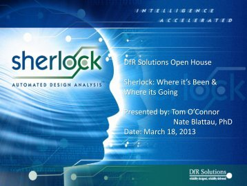 Sherlock: Where it's Been and Where it's Going - DfR Solutions