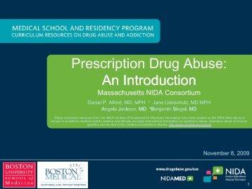 Prescription Drug Abuse PPT - National Institute on Drug Abuse