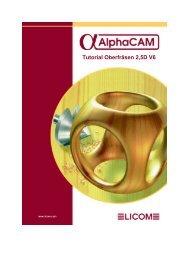Fräsen Mehrseiten Tutorial Licom AlphaCAM 2000 - DREATEC GmbH
