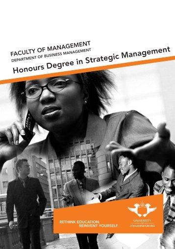 B Com Honours Strategic management Application form