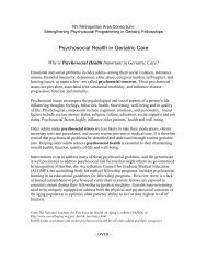 Psychosocial Health in Geriatric Care - Cornell CARES