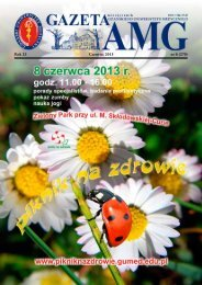 Gazeta AMG czerwiec 2013 - Gdański Uniwersytet Medyczny