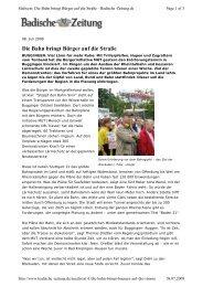 Die Bahn bringt Bürger auf die Straße - MUT im Markgräflerland