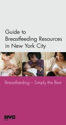 Guide to Breastfeeding Resources in New York City - NYC.gov