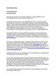 ausführlicher Lebenslauf - Österreichischen Gesellschaft für ...