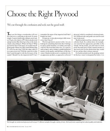 Choose the Right Plywood - Popular Woodworking Magazine