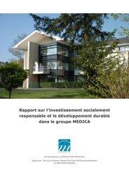 Rapport sur l'investissement socialement responsable et le ...