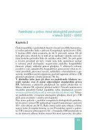 Podnikatel a právo: Nové ekologické povinnosti v letech 2002 − 2003