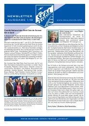 Newsletter 2013 - Skal International Switzerland