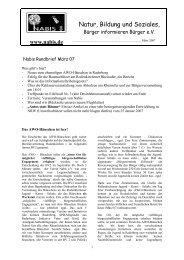 Frühjahr 2007 Rundbrief - NABIS e.V.