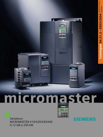 Catalogue SIEMENS Variateurs Micromaster - MIDI Bobinage