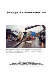 Störningar i Stockholmstrafiken 2001 - Movea Trafikkonsult AB