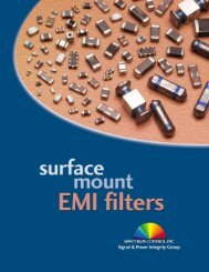 Surface Mount EMI Filter Catalog - Spectrum Control