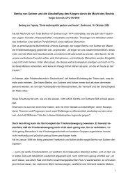 1 Bertha von Suttner und die Abschaffung des Krieges durch die ...