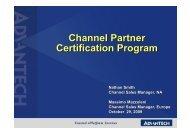 Channel Partner Certification Program Channel Partner Certification ...
