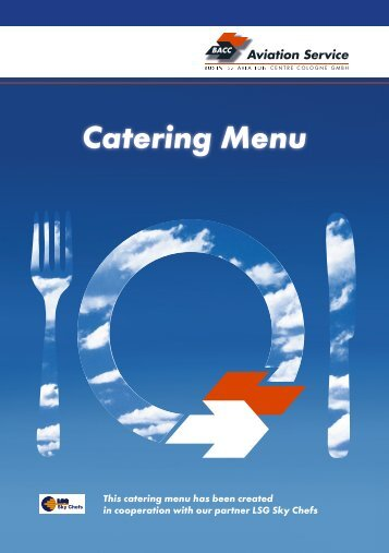 Catering Menu - bac cologne