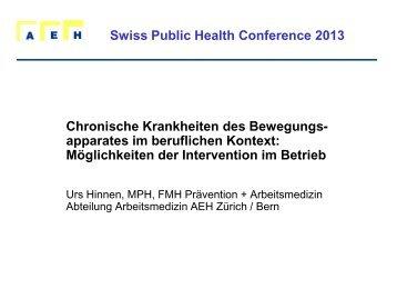 apparates im beruflichen Kontext - Swiss Public Health