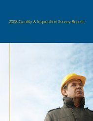 2008 Quality & Inspection Survey Results - FARO Asia