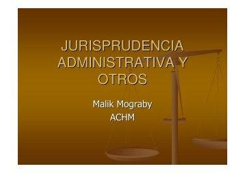JURISPRUDENCIA ADMINISTRATIVA Y OTROS