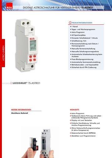 LUXOMAT® TS-ASTRO1 BEG LUXOMA DIgItale astroschaltuhr für ...