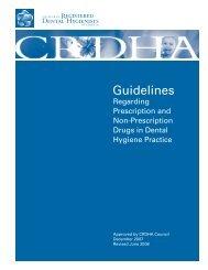 CRDHA Drug Guidelines - College of Registered Dental Hygienists ...