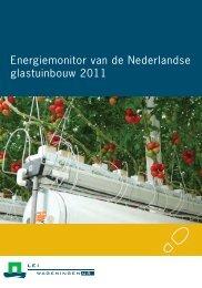 Energiemonitor glastuinbouw 2011 - Energiek2020