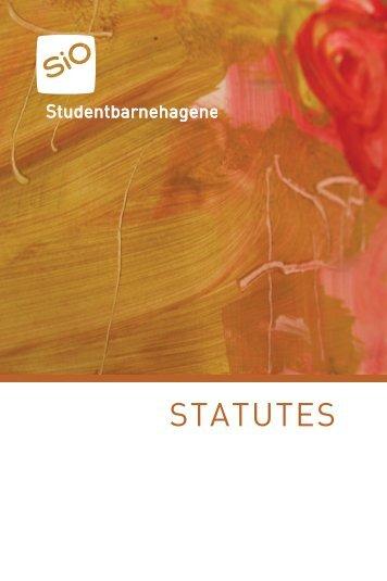 Read the full statutes here (PDF) - SiO