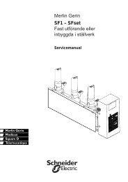 Merlin Gerin SF1 – SFset Fast utförande eller ... - Schneider Electric