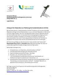 Antrag auf ein Stipendium zur Förderung des Auslandsstudiums mit ...