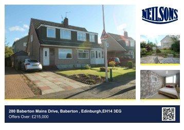 280 Baberton Mains Drive, Baberton , Edinburgh,EH14 3EG Offers ...