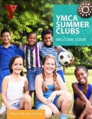 2013 Summer Club Welcome Guide - YMCA of Greater Toronto