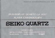 Seiko Duo-Display Quartz Caliber H357 instruction booklet