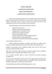 Protokół nr XXX/1/2013 z sesji Rady Gminy Grodzisko Dolne odbytej ...