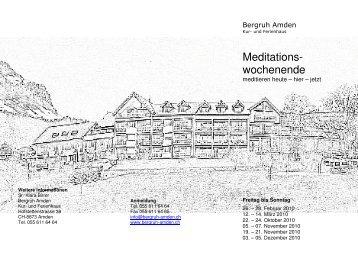 Meditationswochenende 2010 - Kloster Baldegg