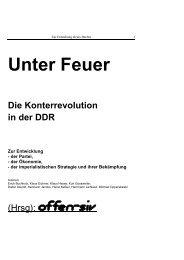 Unter Feuer. Die Konterrevolution in der DDR. - offen-siv