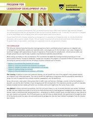 program for leadership development (pld) - Executive Education ...