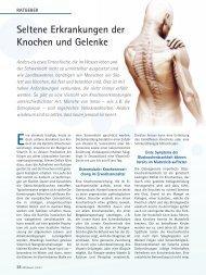 Seltene Erkrankungen der Knochen und Gelenke - Orthopress