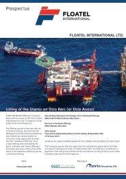 Prospectus - Floatel International