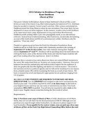 2012$Scholar,in,Residence$Program$ Ryan$Smithson ...