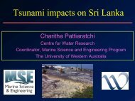 Tsunami Research - The University of Western Australia