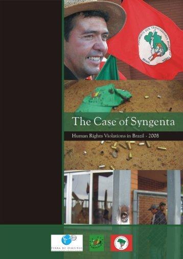 O caso da Syngenta