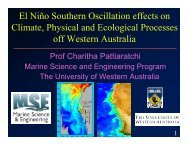 El Niño Southern Oscillation effects on Climate, Physical and ...