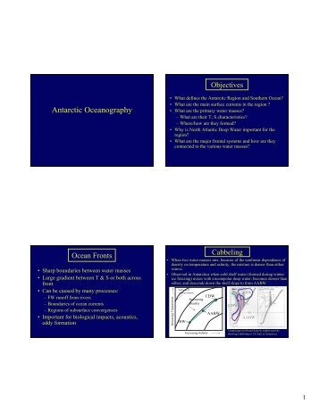 Antarctic Oceanography