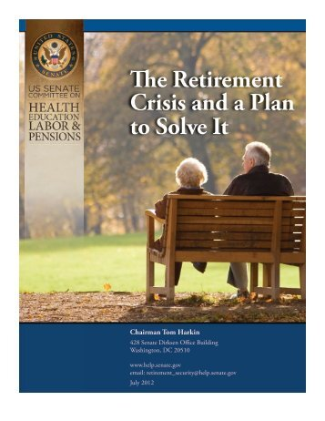 88. The Retirement Crisis and a Plan to Solve It - Senator Tom Harkin