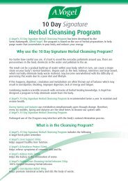 10 Day Signature Herbal Cleansing Program - A.Vogel