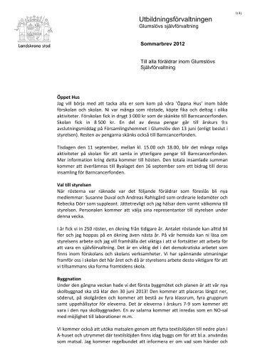 sommarbrev 2012.pdf - Landskrona kommun