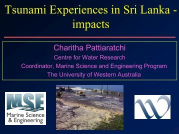 Experience of 2004 tsunami in Sri Lanka—impacts and ...