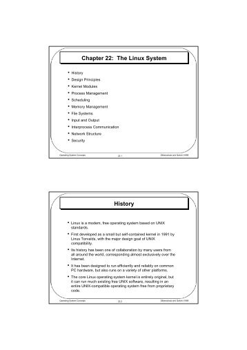 Chapter 22: The Linux System History - Parent Directory