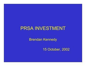 Presentation - PRSA investment