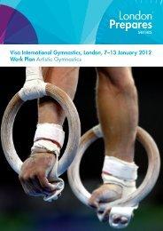 Visa International Gymnastics, London, 7–13 January 2012 Work ...